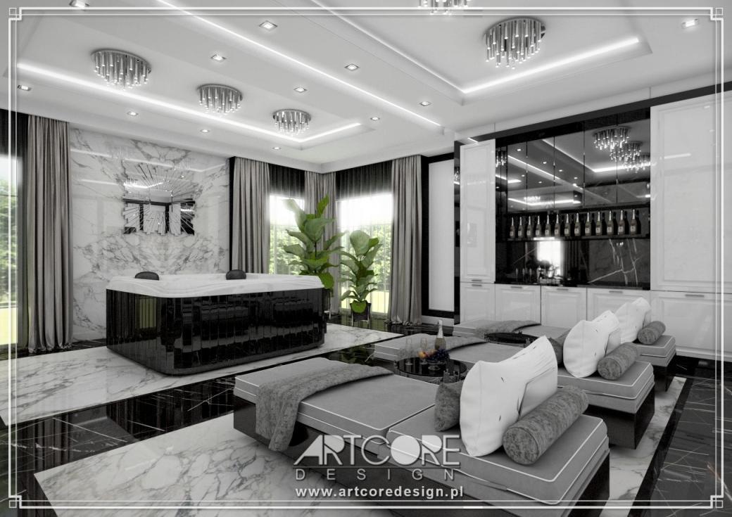 luksusowe domowe spa projekt wnętrza rezydencji