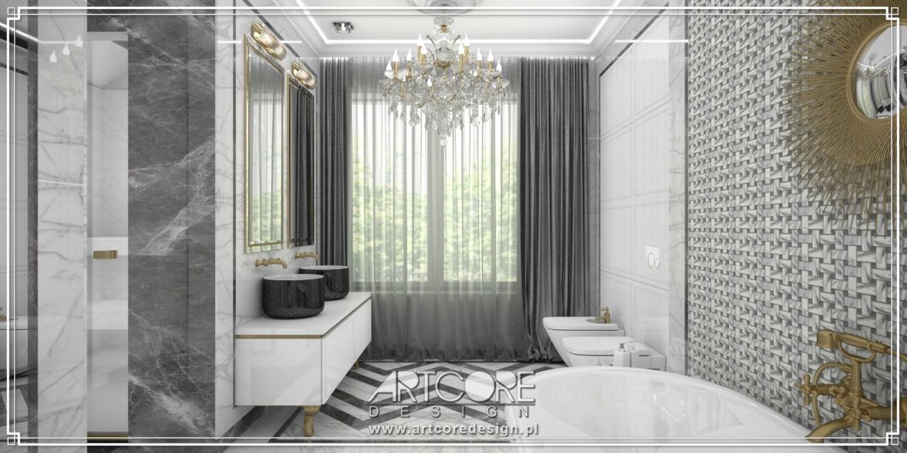 luksusowa łazienka architekt wnętrz