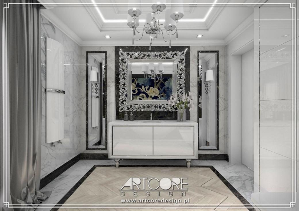 luksusowa łazienka projekt wnetrz
