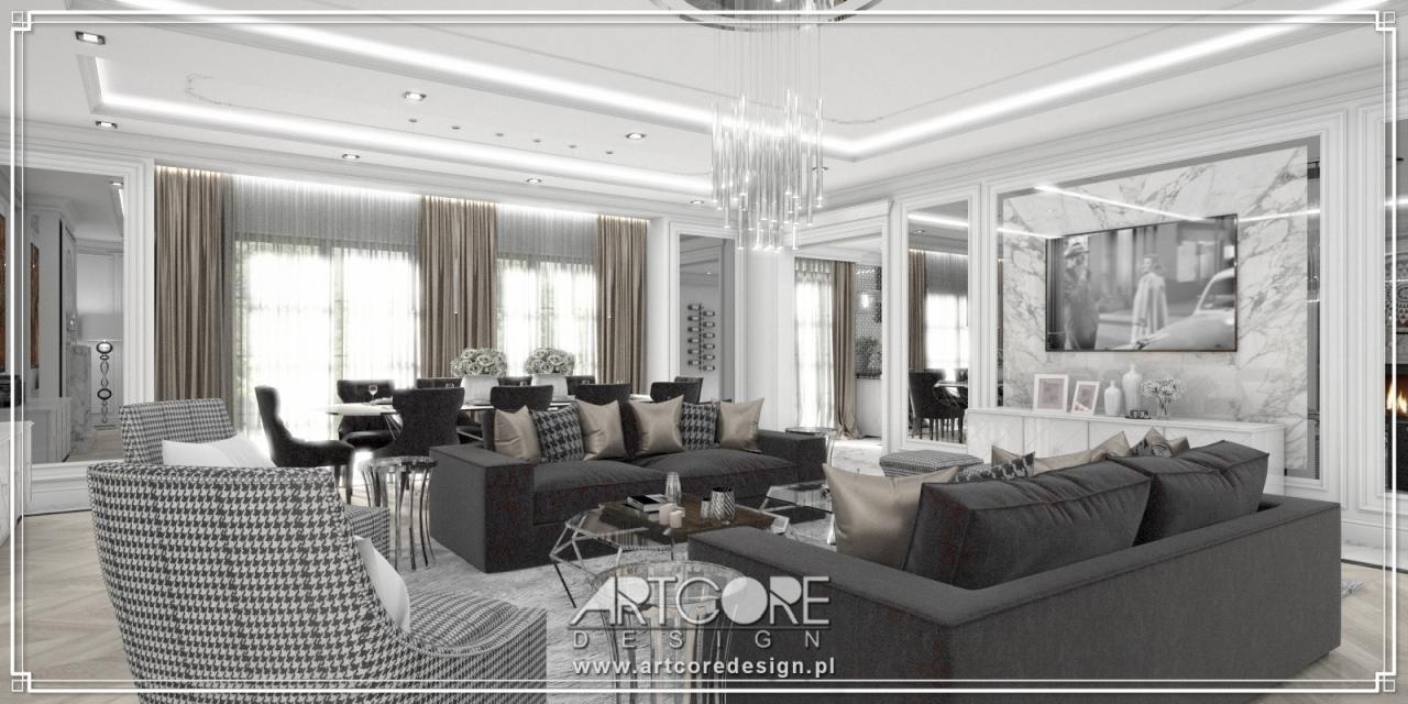 luksusowa rezydencja projekt wnętrza