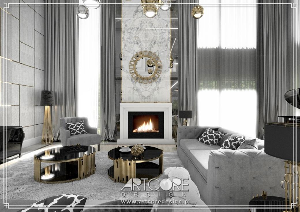 luksusowa rezydencja projektowanie wnętrz