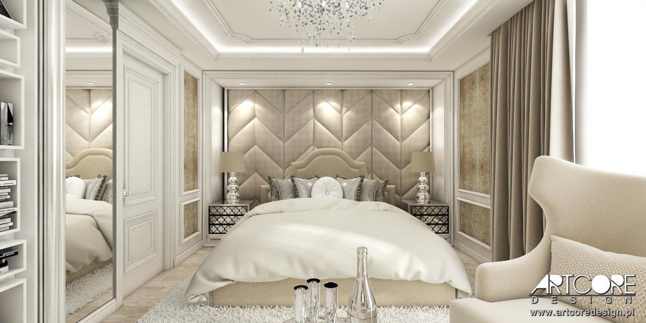 luksusowa sypialnia aranżacja wnętrza