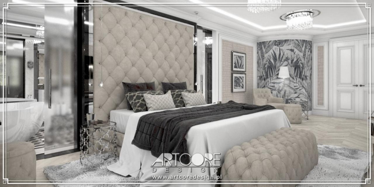 luksusowa sypialnia projekt wnętrza