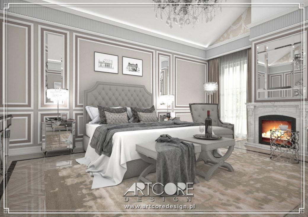 luksusowa sypialnia projektant wnętrz