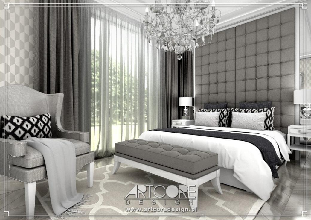 luksusowa sypialnia w apartamencie aranżacja wnętrz