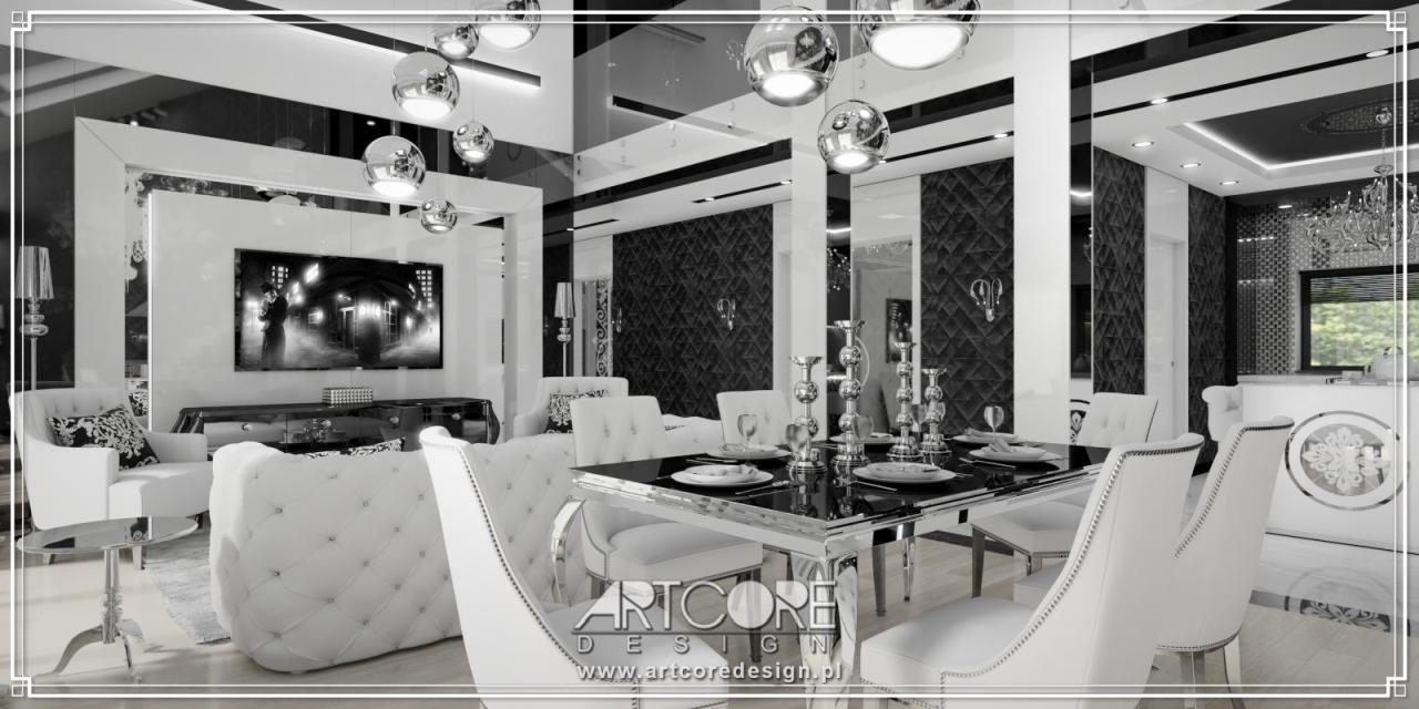luksusowe wnętrza apartamentu w stylu nowoczesny projekt wnętrza