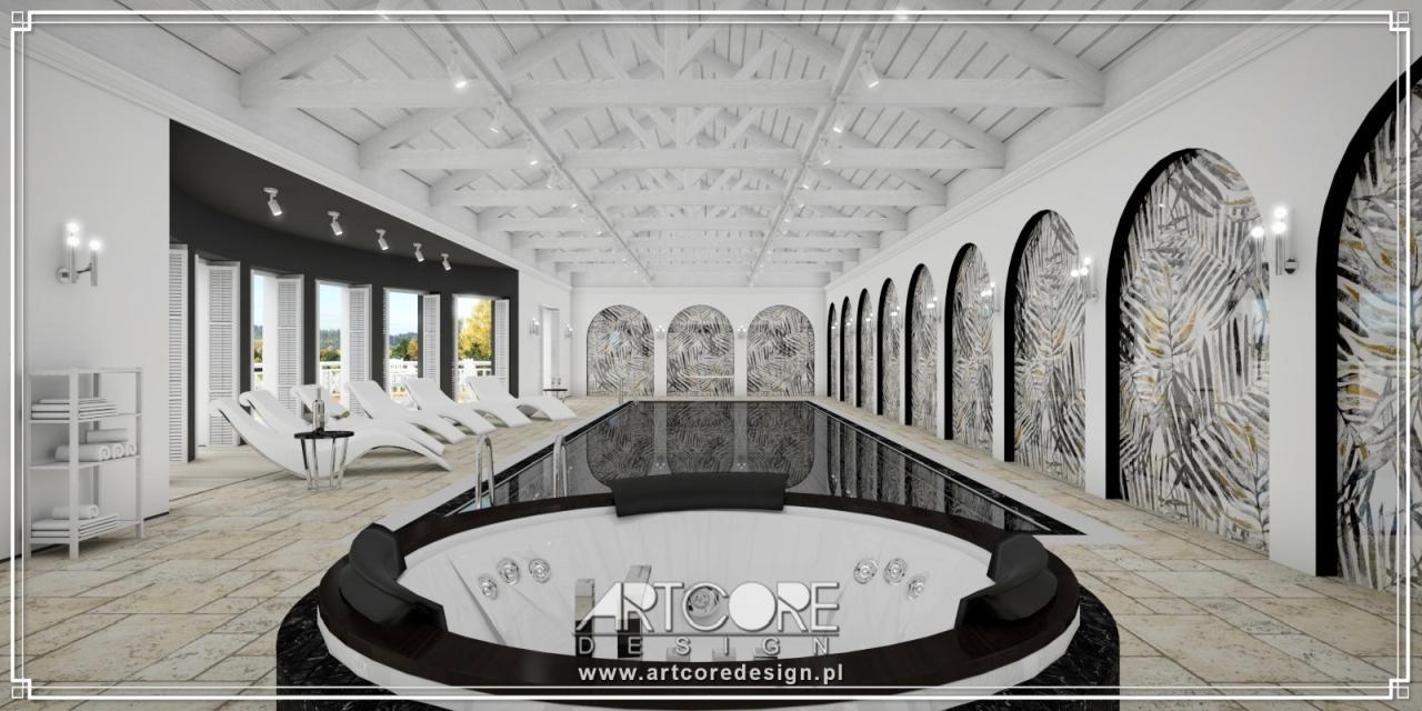 luksusowe wnętrza aranżacja basenu