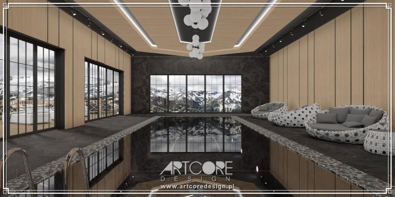 luksusowe wnętrza basenów domowych projekty spa sauna