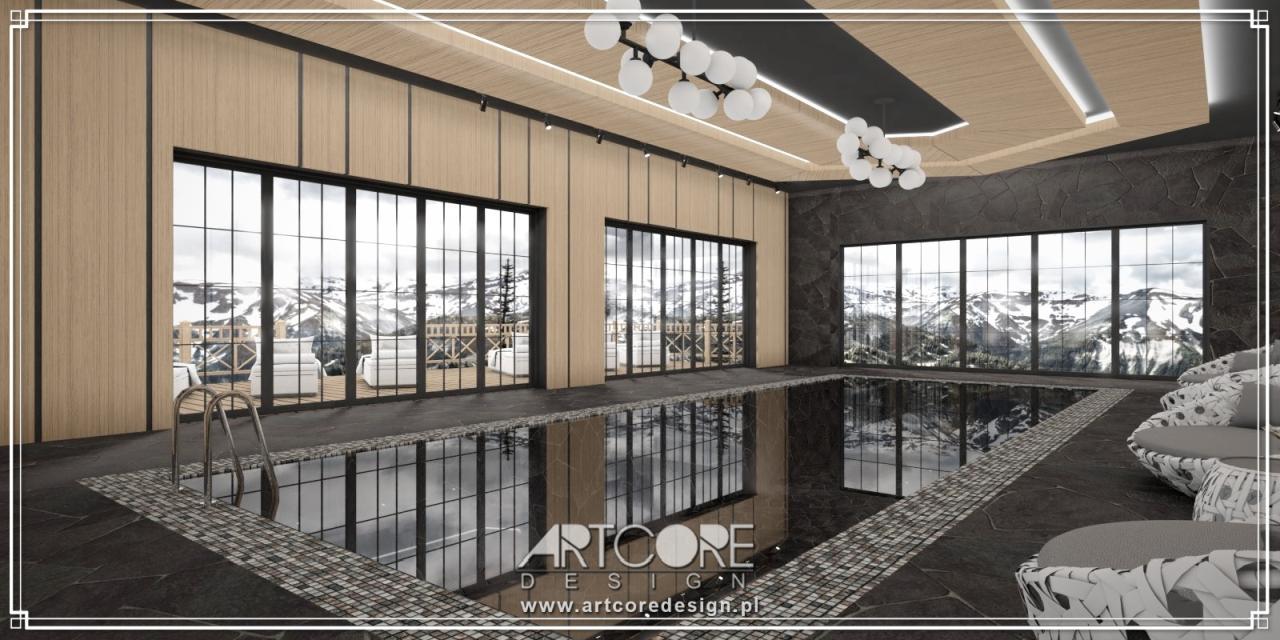 luksusowe wnętrza basenu projekt