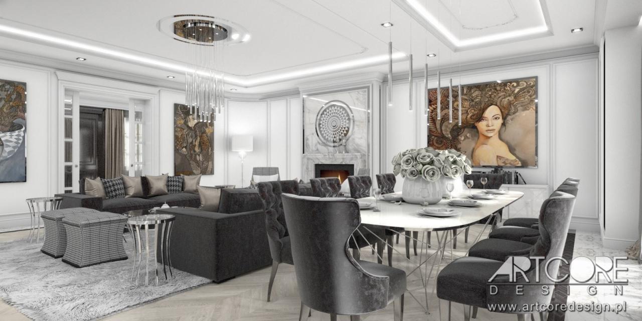 luksusowe wnętrze projekt salonu