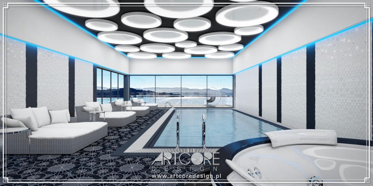 luksusowy Projekt wnętrz basenu
