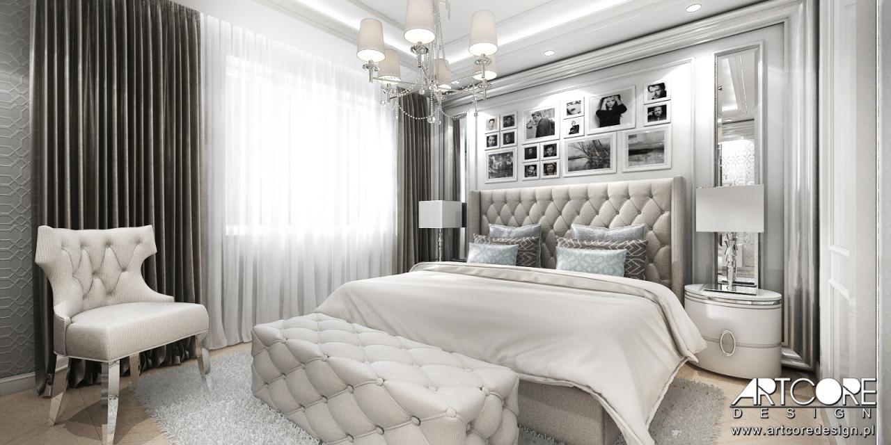 luksusowy apartament sypialnia