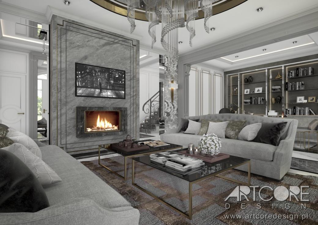 luksusowy dom projekt wnętrza