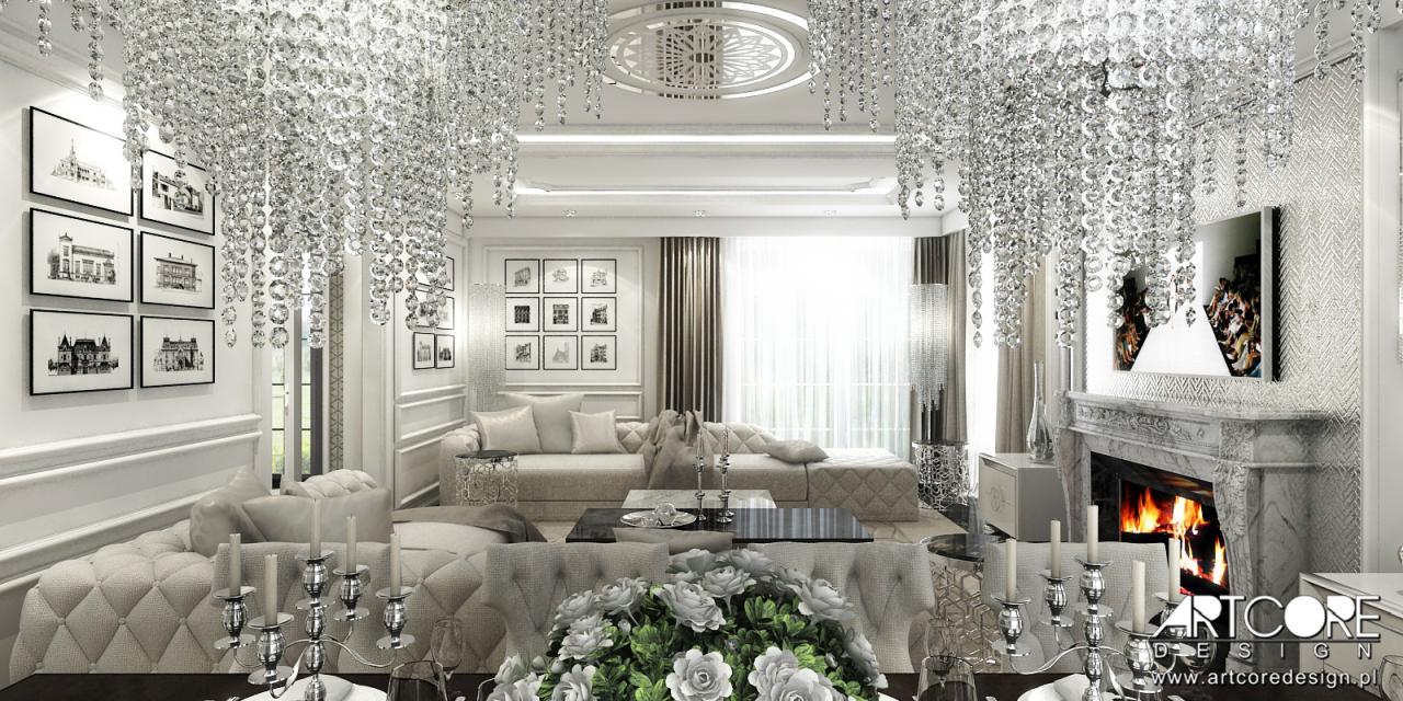 projekt luksusowego salonu glamour