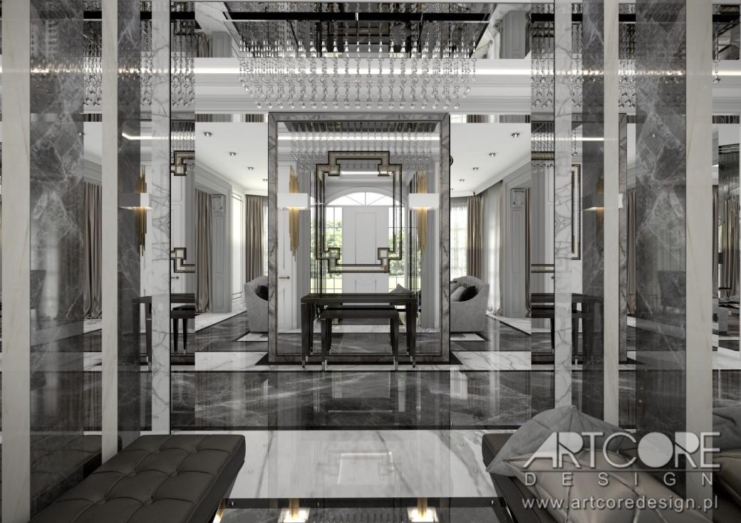 luksusowy dom wnętrza projekt