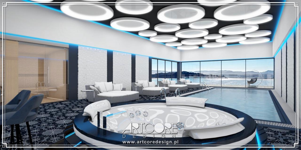 luksusowy projekt wnętrza basenu