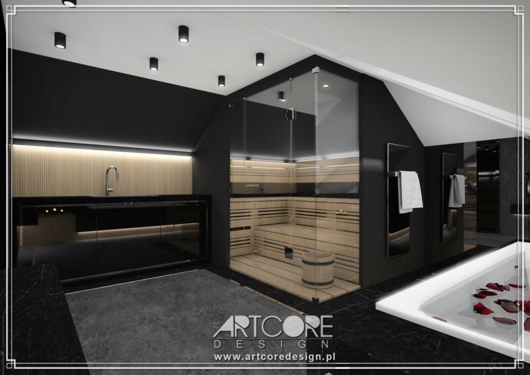 projekt wnętrza luksusowego spa domowego wnętrza