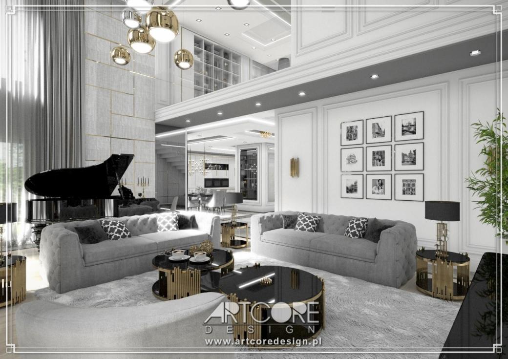 luksusowy salon projekt wnętrza