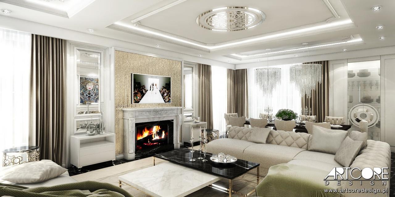 luksusowy salon wnętrze