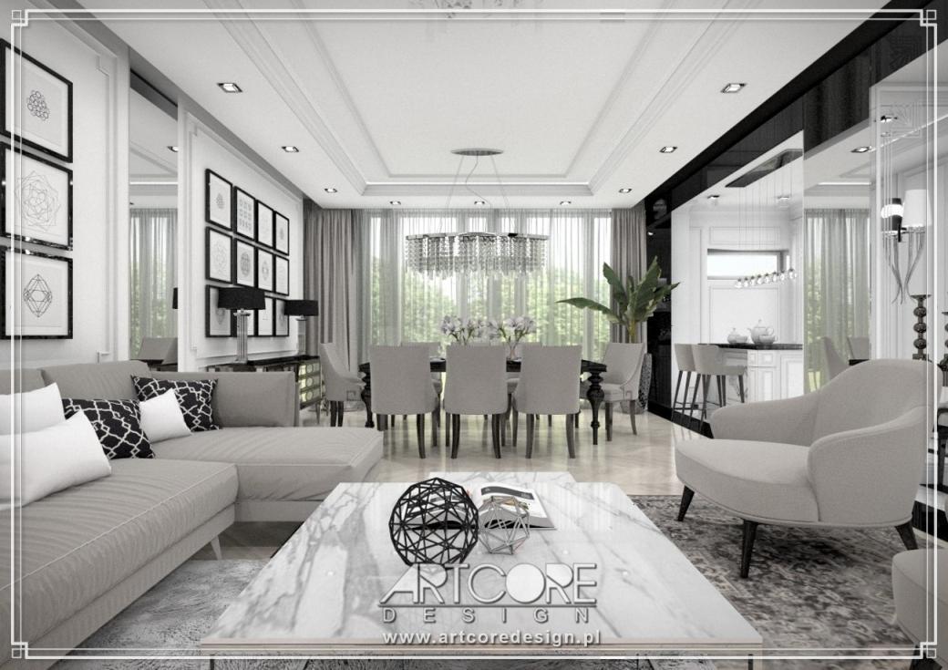 projekt luksusowego apartamentu aranżacja wnętrz