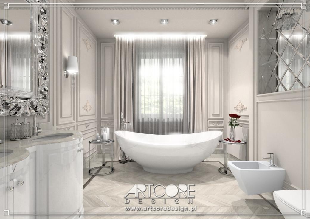 Luksusowa łazienka Projekt Pięknego Wnętrza