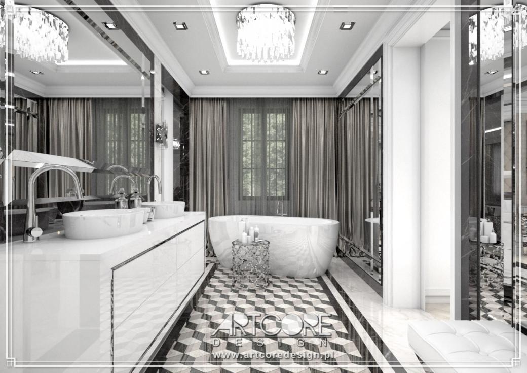 wnętrze luksusowej łazienki architekt